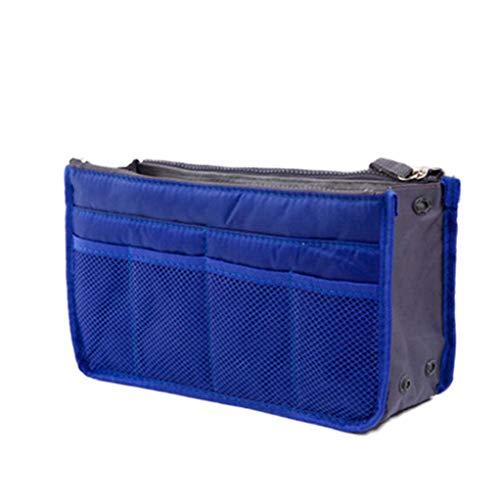 Scuro Buon Organizer Women Donna Borsa A Handbag Mercato Liner Purse Nylon Bag Travel Da Large Cosmetic Blu Insert Lady Makeup 1qFWp1aH