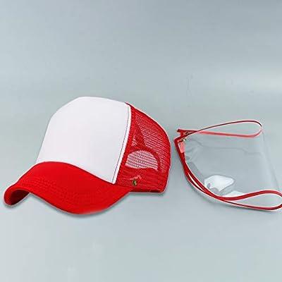 Full Face Visor Hat,Unisex Detachable Baseball Cap Eye Protective Adjustable Hat Anti-Saliva Anti-Spitting Outdoor Sun: Clothing