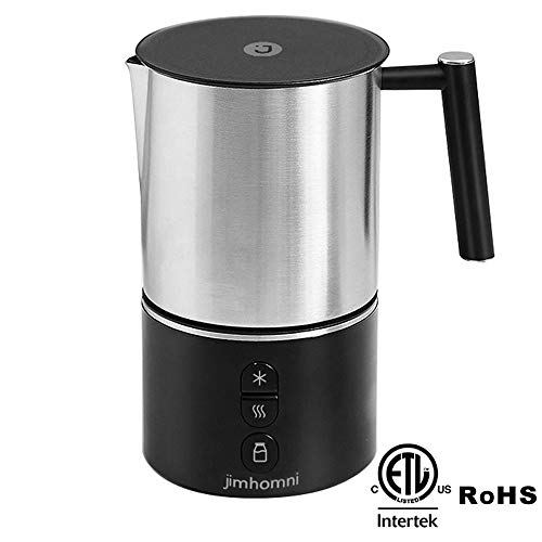 JIMHOMNI Detachable Milk Frother,Electric Milk Frother Milk Steamer Foam Maker for Latte, Cappuccino, Chocolate, Macchiato, Automatic Milk Frother and Heater w/Hot Cold Functionality