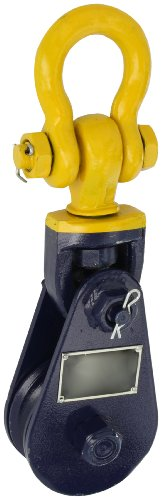 Indusco 16900205 Steel Snatch Block with Swivel Shackle, 4-1/2 ton Load Capacity, 3/8