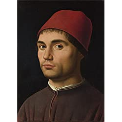 Perfect Effect Canvas ,the Amazing Art Decorative Prints On Canvas Of Oil Painting 'Antonello Da Messina Portrait Of A Man ', 8 X 11 Inch / 20 X 28 Cm Is Best For Game Room Artwork And Home Gallery Art And Gifts