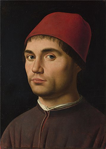 Oil Painting 'Antonello Da Messina Portrait Of A Man ' Printing On Perfect Effect Canvas , 8 X 11 Inch / 20 X 28 Cm ,the Best Bar Gallery Art And Home Decoration And Gifts Is This High Resolution Art Decorative Prints On Canvas