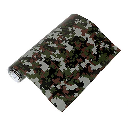 (Kavas - Car Wrap Film Auto Decors 3D Car Stickers Camouflage Vinyl PVC Car Styling Digital Woodland Green Desert Camo)