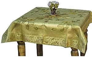 Ikras Royal Flower Table Cloth - 110 x 110 cm - Gold