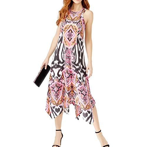 INC International Concepts Women's Printed Handkerchief-Hem Midi Dress -