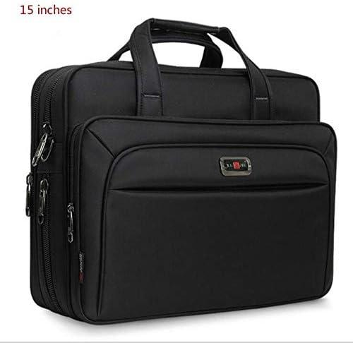 """TTZY New Business Men Aktentasche High Capacity Herren Einzelschulter Taschen 14""""15"""" 16""""Laptoptasche Frauen Arbeitsdateien Office Package, 15 Zoll Schwarz"""