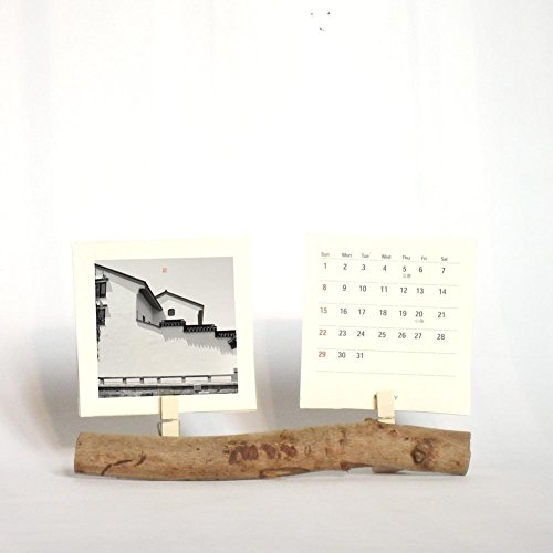amazon com 2018 desk calendar with hand made branch wood stand