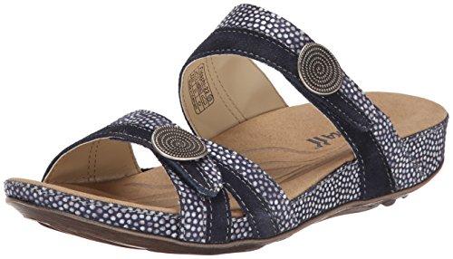 22 Kombi Romika Fidschi Sandale amerikanisches Flache 36 Schwarz Damen Blau US YwaEw1