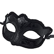 Men Ladies Masquerade Ball Mask Venetian Party Eye Mask New Black Carnival