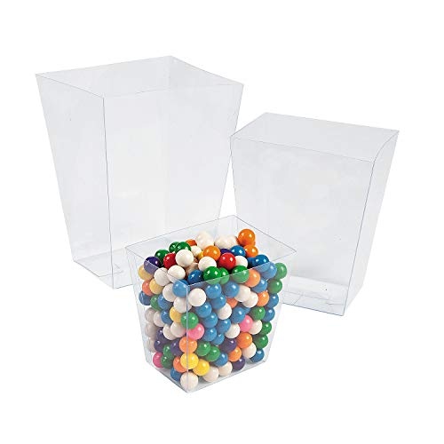 Clear Plastic Candy Treat Buckets (6pc) Party Supplies and Decoration