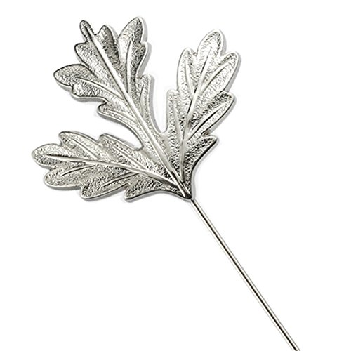 MGStyle Boutonniere Lapel Pin Stick Brooch For Men - Maple Leaf - Silver Tone - Alloy Silver Maple Leaf Pin