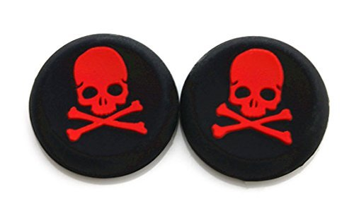 Vivi Audio Thumb Stick Grips Cap Cover Joystick Thumbsticks Caps For PS4 XBOX ONE XBOX 360 PS3 PS2 Red Skull