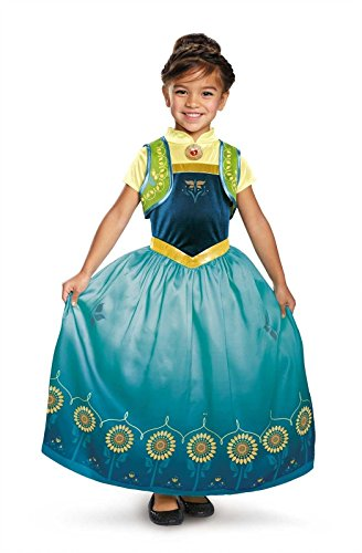 [Disguise Anna Frozen Fever Deluxe Costume, One Color, Small (4-6)] (Anna Costume Ideas)