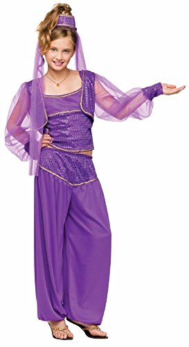 Girls Dreamy Genie Costumes - Dreamy Genie Belly Dancer Child Costume
