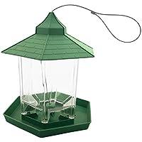 Skycabin Green Hanging Wild Bird Feeder Seed Container Hanger for Outdoor Garden