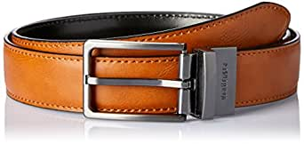 VAN HEUSEN Men's Reversible Belt with Stitched Edge Reversible Belt with Stitched Edge, Black (Black/Tan Reversible), 32