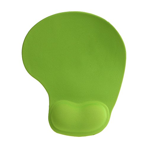 Price comparison product image Mouse Pad With Comfort 3D Wrist Gel Rest Support Mouse Pad Silica Gel, Green.