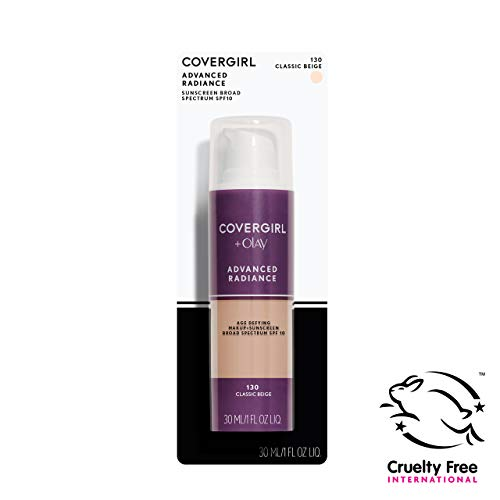 COVERGIRL Advanced Radiance Age-Defying Foundation Makeup, Classic Beige, 1 oz (Packaging May Vary)