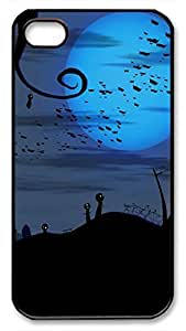 Bats over Cemetery Halloween Hard Plastic Back Fits Cover For Ipod Touch 5 Case Cover -1122012