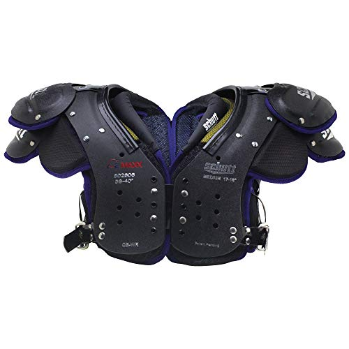 Quarterback Shoulder Pads - Schutt Sports Varsity O2 Maxx QB/WR Shoulder Pad, Black/Purple, Small