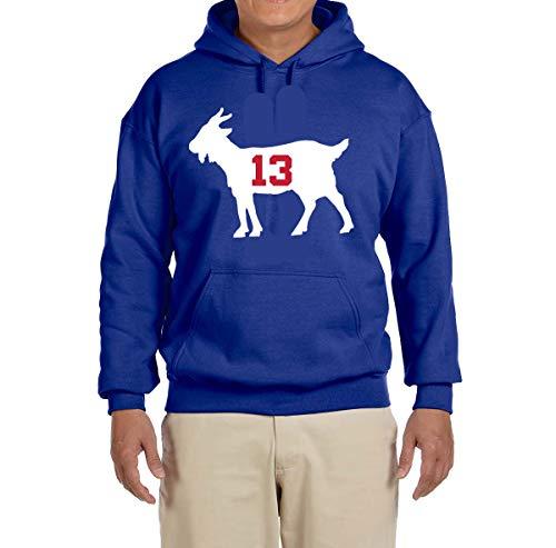 - Tobin Clothing Blue New York Beckham Goat Hooded Sweatshirt Adult XL
