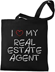 Eddany I love my Real Estate Agent Canvas Tote Bag