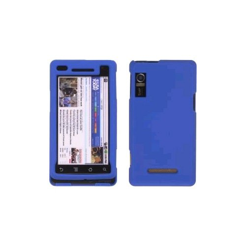 Blue Rubberized Snap On Case for Motorola A854 Milestone, A855 Droid