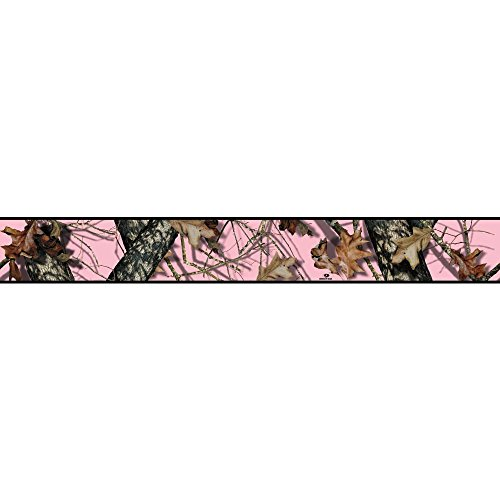 Camouflage Wall Border (York Wallcoverings BP8100BD Mossy Oak Camo Border, Pink, Browns, Black)