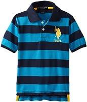Little Boys' Yarn Dyed Striped Polo Shir...