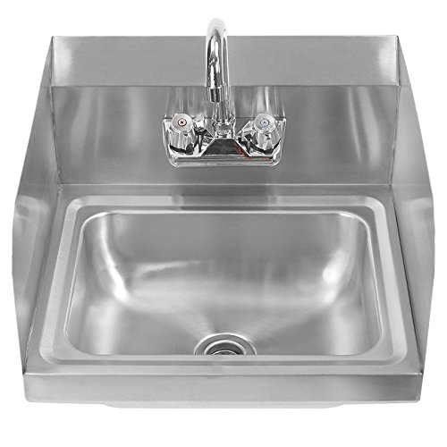 Gridmann Commercial NSF Stainless Steel Sink With Faucet U0026 Sidesplashes   Wall  Mount Hand Washing Basin     Amazon.com