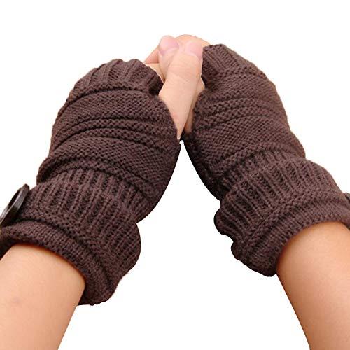 疑い者投資シンポジウムノーブランド レディース 手袋 指なし メンズ 毛糸 グローブ 半指 保温 防寒 ボタン付き 無地 スマホ対応 アウトドア ファッション スポーツ 自転車 男女兼用
