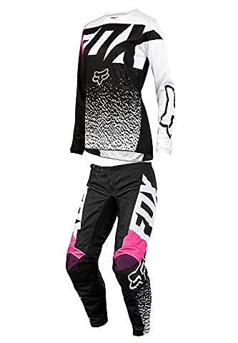 Fox Racing 2018 Womens 180 Combo Jersey Pants Black/Pink MX ATV Offroad Dirtbike Motocross Riding Gear - Women Off Road Jerseys