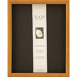 11x14 Shadow Box Wood Frame 15/16 Deep (Honey)