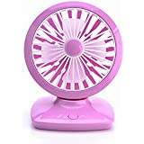 Electric wall hanging fan with adjustable head,usb portable outdoor table fan with rechargeable lithium battery,bigger size in 9 inch By HL Global(Purple)