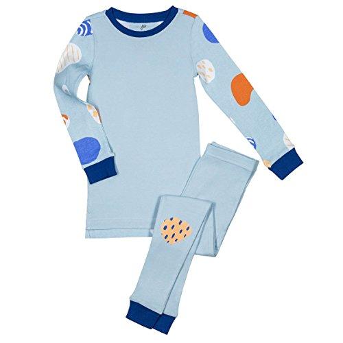 Papallou Abstract Print, 100% Soft Cotton, 2 Piece Pajama Set (Size 18m-12T).