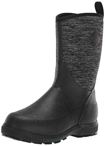 Muck Boot Unisex Element Knee High Boot, Black/Heathered Jersey, Youth 2 Regular US Big Kid
