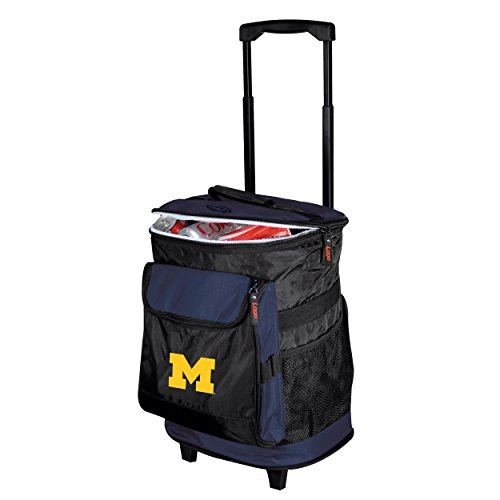 Logo Brands 171-57 NCAA  Michigan Wolverines Rolling Cooler - Logo Cooler