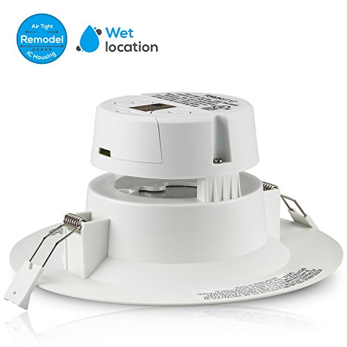 """TORCHSTAR 4 PACK 6"""" LED Recessed Downlight with Junction Box, 9W (80W Equivalent) Dimmable LED Ceiling Light Fixture, IC-Rated & Air Tight, Wet Location, 2700K Soft White, UL-listed, 5 Years Warranty"""
