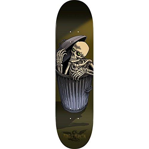 積極的にルーム数値Powell Peralta Garbage Can Skellyスケートボードデッキ-8.5オリーブデッキ – Assembled as complete skateboard