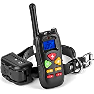 Casfuy Training Collar Upgraded 1000ft Remote Waterproof Rechargeable Dog Shock Collar with Beep Vibration and Harmless Shock for Small Medium Large Dog (6.6-120lbs)