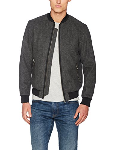 Melange Jcowool amp; Jack grey Grigio Jones Uomo Fit Bomber one UfSCw0