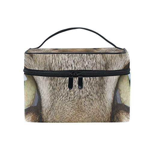 Makeup Bag Cosmetic Storage Bag Cat Whiskers Eyes Muzzle Animal Portable ()