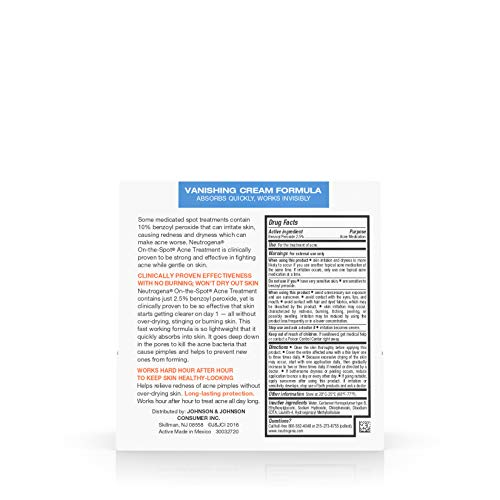 Neutrogena On-the-Spot Acne Treatment, Vanishing Formula, 0.75 oz