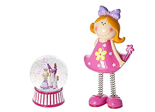 Mousehouse Gifts Princess and Unicorn Kids Snow Globe with Money Box Piggy Bank Gift Present Idea for Girls