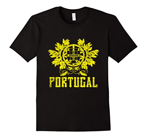 Men's Portugal, Coat of Arms, House of Burgundy T-Shirt XL Black (Coat Portugal)
