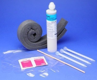 American Polywater FST-250KIT Polyurethane Foam Duct Sealant Kit 8.5 oz Cartridge Amber Resin Clear Curing Agent