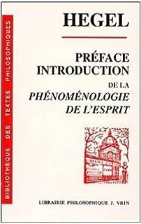 La Wilhelm Phénoménologie Georg De Préface L'esprit 5Yw74xHPPq