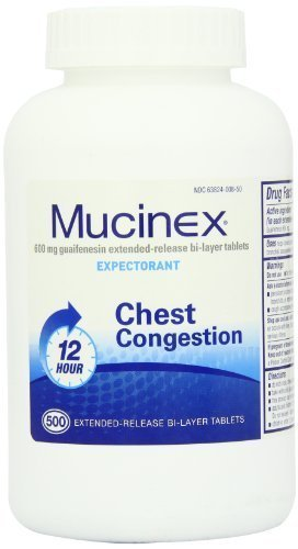 Mucinex Extended-Release Bi-Layer Tablets, 500 Count