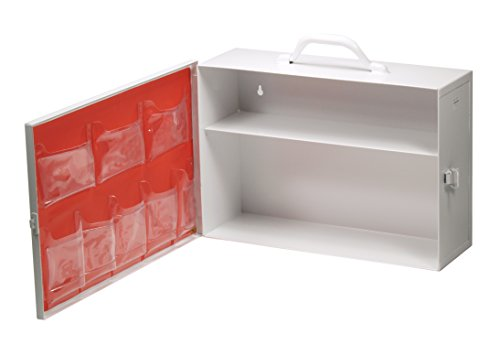 Medique Products 723MTMSD 2 Shelf Empty First Aid Kit Side Opening with - Aid First Shelf 5