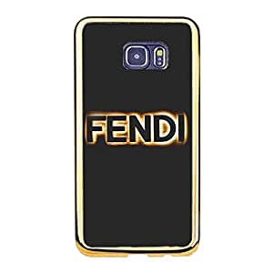 for Samsung Galaxy S6 Edge Plus Popular Custom Fendi Mark Phone Case(Gold Plastic) Luxury Brand Pattern
